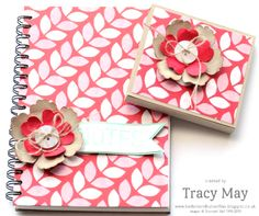 Fresh Prints Notebook and Sticky Note holder – using Stampin' Up! ® products