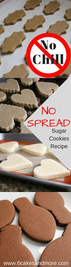 No Chill No Spread Sugar Cookies No Chill No Spread Sugar Cookies!No Chill No Spread Sugar Cookies! No Spread Sugar Cookie Recipe, Sugar Cookies Recipe, Cookie Recipes, Dessert Recipes, Cupcakes, Cupcake Cakes, Galletas Cookies, Cake Cookies, Cookie Favors