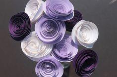 12 Purple Spiral Wedding Rose Flowers - Corsage/Boutonniere -  Bouquet  - Centerpiece  - Baby Shower - Home Decor - Gift - Party -