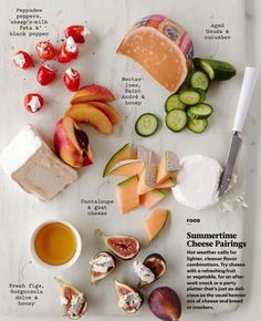 Some great cheese pairing ideas.