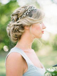 40 coiffures de mariée avec cheveux relevés 2017 Image 24