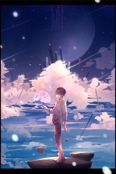 I Give the Earth to You(地球をあげる) Soraru ver. Chibi Boy, Anime Chibi, Manga Anime, Anime Art, Wallpaper Animes, Wallpaper Backgrounds, Wallpapers, Cool Anime Guys, Anime Boys