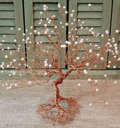 Wire Tree Sculpture Tree of Life Wire Metal Art Copper Tree
