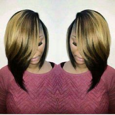 23 Cute Bob Haircuts & Styles for Thick Hair: Short, Shoulder Length Hairstyles African American ombre bob hairstyle ideas – Farbige Haare Cute Bob Haircuts, Bob Hairstyles For Thick, Hairstyles Haircuts, Weave Hairstyles, African Hairstyles, Natural Hair Styles, Short Hair Styles, Bob Styles, Shoulder Length Hair