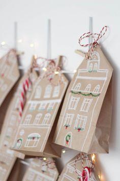 Pink Christmas Decorations, Christmas Crafts For Gifts, Christmas Gift Wrapping, Christmas Love, Winter Christmas, Xmas, Diy Advent Calendar, Printable Christmas Cards, Origami