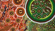 How does Aboriginal art create meaning