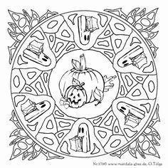 Noch Ein Halloween Mandala Halloween A Halloween Halloweenmandala Ausmalbil Ausmalbilder Mandala Halloween Mandala Halloween Ausmalbilder