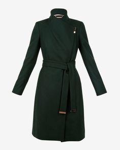 27d0bad214375 Ted Baker SANDRA Midi wool wrap coat