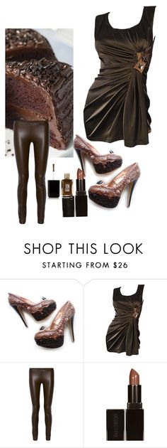"""""""Shoe bakery<~~"""" by johannyem ❤ liked on Polyvore featuring Vera Wang, The Row, Laura Mercier and JINsoon"""