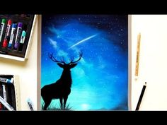 Deer drawing, soft pastels on Pastelmat + Patreon announcement| Leontine van vliet - YouTube