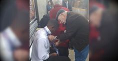 Thanks to the power of social media, what 2 strangers did for a young man at a bustling train station is touching the hearts of thousands!