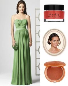 The 'Afternoon Wedding' look! Dress from Weddingtonway.com style 2860 in Apple Slice. Make up tips from Blushington Make-Up & Beauty Lounge