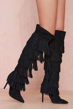 Jeffrey Campbell Go-Lightly Suede Boot - Black | Shop Boots at Nasty Gal