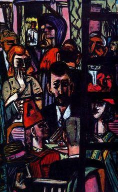 """Hotel Lobby"" by Max Beckmann (1884-1950, Germany)"