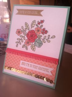 Stampin Up! So Very Grateful, 2014 Occasions Spring Mini, Blender Pen technique, Stampin' Fool