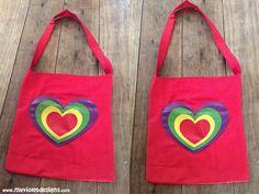 Morral de corazon. myvioletdesigns.com