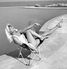 "Marie-Hélène Arnaud at the Hotel Eden Roc, Cap d'Antibes, photographed by Georges Dambier for ELLE, June 10, 1957.  #CapdAntibes #visitecotedazur #cotedazur #frenchriviera #sea #beautiful #france ""southoffrance"