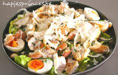 Caesar Salade - Hapjes Princess Salade met kip Gezond eten Gezonde recepten
