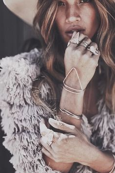 Rocky Barnes wearing James Michelle Jewelry.  Visit http://www.jamesmichelle.com to see full lookbook and shop jewelry.