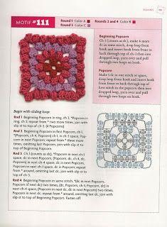""""""" MOSSITA BELLA PATRONES Y GRÁFICOS CROCHET """": Beyond the Granny Square Crochet Motif Square # 107-121"""