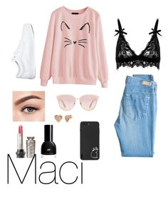 """""""Maci"""" by miriamygoggins on Polyvore featuring AG Adriano Goldschmied, Vans, Gucci, BERRICLE and Morphe"""