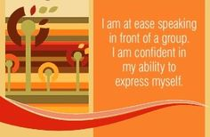 Do you express yourself with confidence?
