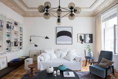 Sala de estar com toques do estilo Art Nouveau | CASA CLAUDIA