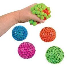 Squishy Mesh Ball Assorted Colors : Toys & Games - Toy Balls on Pinterest Stress Ball, Game Boards and Stress Reliever