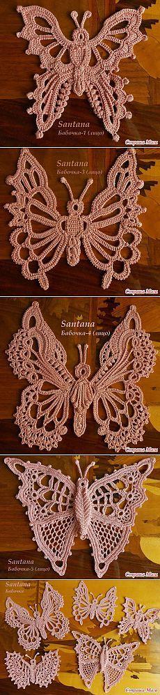 Мотивы ирландского кружева (бабочки):