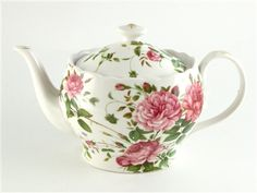 Click here to view and purchase at 10% off retail   this lovely porcelain teapot.  It is enhanced by hand-painted gold accents, comes in a lovely gift box, and it holds a generous 44 ounces of your favorite brewed beverage.  Matching tea cup and saucer are available.  Only $38.60. www.giftworksgourmet.com