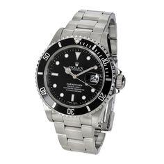 This is my husbands dream watch! //Men's Submariner watch.