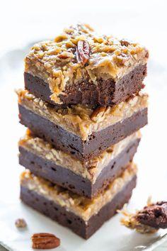 Ooey Gooey German Chocolate Brownies | Chocolate, coconut, pecans, oh my!