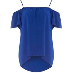 Dorothy Perkins Blue Textured Longline Cami Top (28 CAD) ❤ liked on Polyvore featuring tops, shirts, t shirts, blue, textured shirt, cami tank, polyester camisole, blue top and camisole tops