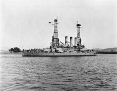 USS Ohio BB-12 departing Mare Island August 1915.