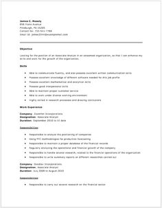 Accounts Payable Analyst Resume | Resume Examples | Pinterest
