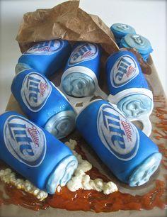 Miller Lite Cake by TheTopping, via Flickr