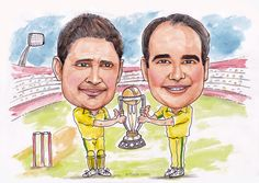 Clarke & Mike Caricature done for ESPN.