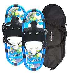 Flashtek Light Weight Snowshoes with Carrying Tote Bag for Kids  Blue *** To view further for this item, visit the image link. This is an Amazon Affiliate links.