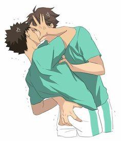 Haikyuu Manga, Haikyuu Funny, Haikyuu Fanart, Haikyuu Ships, Anime Manga, Anime Guys, Oikawa X Iwaizumi, Iwaoi, Kagehina