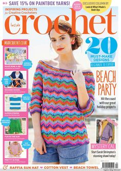 Buy Digital and Print Copies of Inside Crochet - Issue Available on Desktop PC or Mac and iOS or Android mobile devices. Knitting Books, Crochet Books, Loom Knitting, Crochet Yarn, Knit Crochet, Knitting Magazine, Crochet Magazine, Shibori, Last Stitch