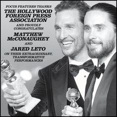 """Dallas Buyers Club"". Dallas Buyers Club, Golden Globe Award, Matthew Mcconaughey, Jennifer Garner, Jared Leto, Good Movies, Romance, Celebs, Celebrity"