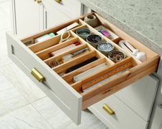 Keep your kitchen organized with built-in drawer organizers from Martha Stewart Living™ at The Home Depot.