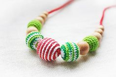 Christmas gift Teething / Nursing necklace by NecklacesForMommy, $18.90