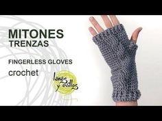 Tutorial Mitones Crochet o Ganchillo Fingerless Gloves (English subtitles) - YouTube
