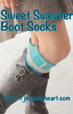 Easy TUTORIAL DIY Boot Socks and Scarf