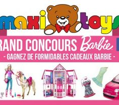 10 Lots Barbie à remporter avec Maxi Toys !