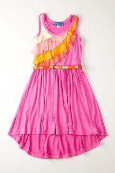 Sleeveless Hi-Lo Dress