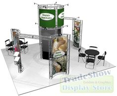 Portable trade show display options.