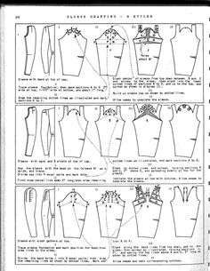 M Rohr Vintage Patternmaking Coat Patterns, Dress Sewing Patterns, Clothing Patterns, Techniques Couture, Sewing Techniques, Pattern Cutting, Pattern Making, Sewing Sleeves, Patron Vintage