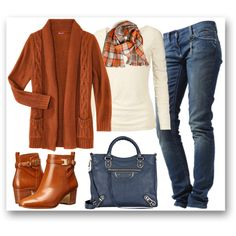 A fashion look from November 2015 featuring brown cardigan, lace top and sexy jeans. Browse and shop related looks. Casual Outfits, Cute Outfits, Fashion Outfits, Womens Fashion, Outfits 2016, Fashion 2017, Fashion Trends, Fall Winter Outfits, Autumn Winter Fashion